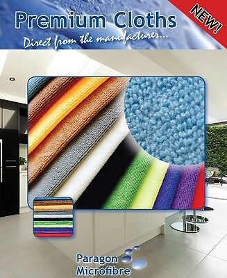 Microfibre cleaning cloth. Premium quality 300gsm 40x40cm - Pack of 10 - Black