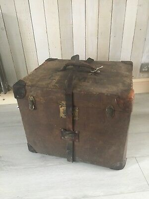 Vintage Pukka Steamer Leather Luggage Trunk With Amazing Original Features