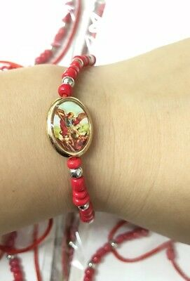 Wholesale Lots 12pieces Saint Michael Religious red string Charm Bracelets
