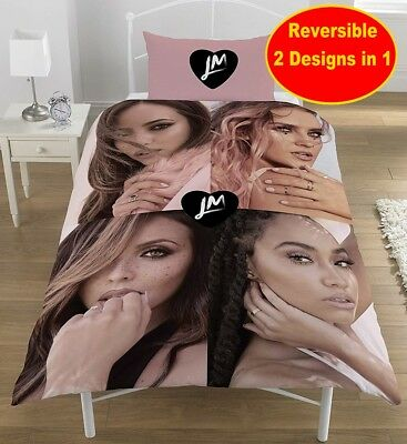 Official Little Mix Single Duvet Quilt Cover Set Girls Kids Pink Bedroom Gift