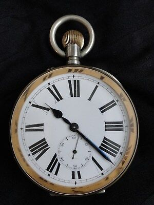 Professionally restored Antique Goliath watch, c1895. Regulated & guaranteed.