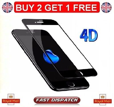 Genuine iPhone 4D Tempered Glass Curved Edge Screen Protector iPhone 7 7 Plus