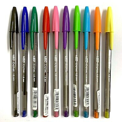 BiC Cristal Fun Original Fluo Ballpoint Pens Multi Colours 1.6mm 10 Pens