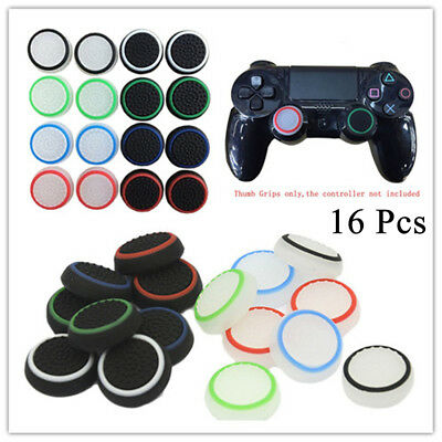 16P Silicone Thumb Stick Cover Grip Caps For Sony PS4 PS3 XBOX Analog Controller