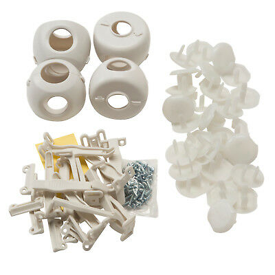 Safety 1ˢᵗ 46-PIECES SAFETY ESSENTIALS SET Door Knob Covers Cabinet Latches Plug