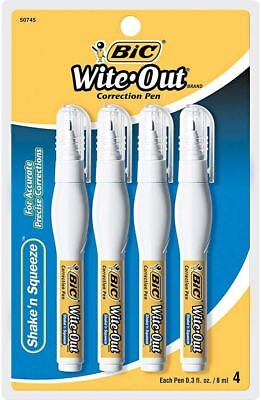BIC Wite-Out Shake 'n Squeeze Correction Pen, 4-count