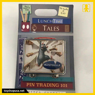 Disney Parks Lunch Time Tales Ratatouille Remy Pin Trading 101 Pin LE
