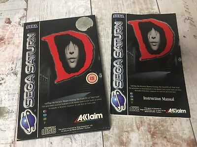 Box and Manual Only - D for Sega Saturn - Box and Manual Only