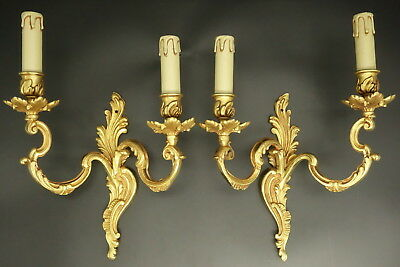 Pair Of Large Sconces Louis Xv Style - Gau Paris - Bronze - French Antique (1/2)