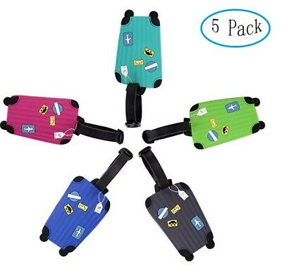 10pc Luggage Label Strap Suitcase Name ID Address Tags for Travel Luggage Tag US
