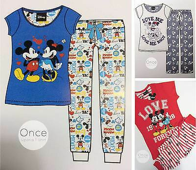 Primark Disney Mickey et Minnie Mouse Pyjama Pantalon de Détente & T Shirt Jeu