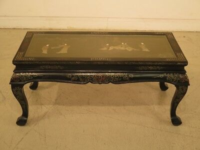 F43360: Antique Chinese Coffee Table w. Mother Of Pearl Inlay Work