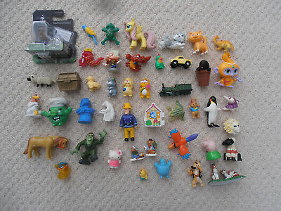 Large Bundle of Small Figures / Cake Toppers : 40 Childrens Characters Mixed Lot