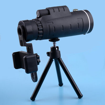 Scope Monocular Bird Watching Telescope High Power Prism for Adults BAK4 Black