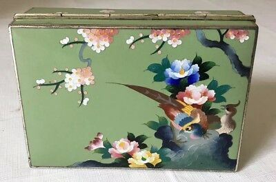 Beautiful Antique Cloisonné Japanese Box Made By Inaba