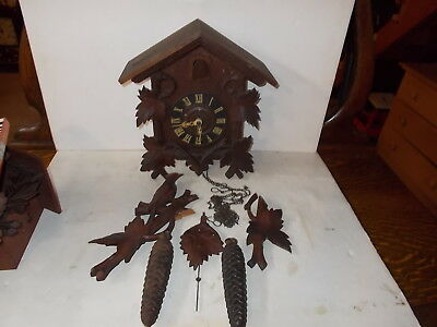 Antique German 8 Day T&S Cuckoo Clock As Found Original Condition