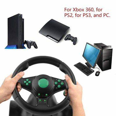 PS3 Steering Wheel Pedal Set Racing Gaming Simulator Driving PC for XBOX 360 CW