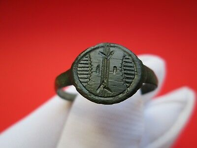 Ancient bronze ring medieval Roman