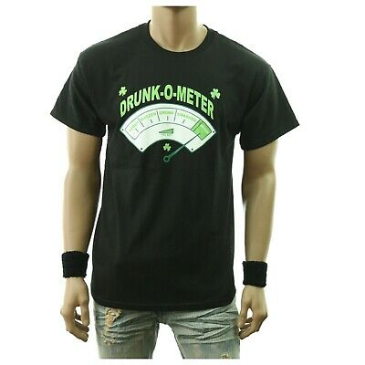 f61d6d09 Funny Drinking Graphic T-Shirt DRUNK-O-METER Fashion Casual Printed Humor  Tee