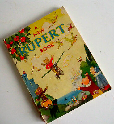 Very Rare Wartime Soft-Cover Annual - A New Rupert Book - 1945 - Golly Story