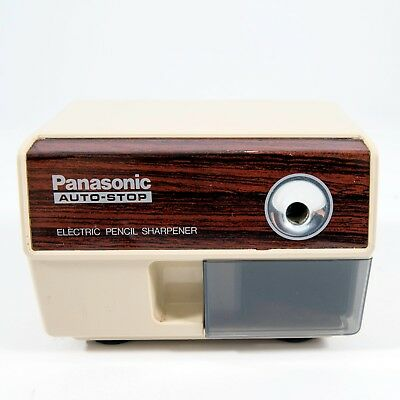 Vintage Panasonic Electric Pencil Sharpener With Auto Stop KP-110 Tested
