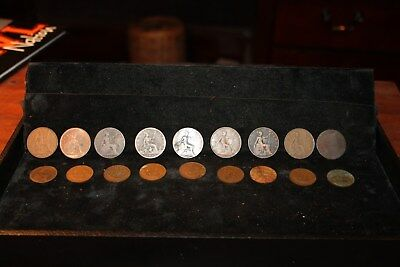 Lot of 18 British Copper Coins- Penny and Half Penny 1893 - 1967