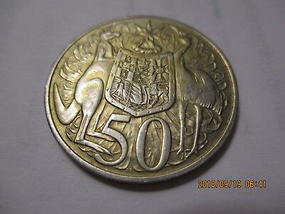 AUSTRALIA 1966 SILVER 50 CENTS .  Silver  80%,  .3416 ASW.   Great looking coin.