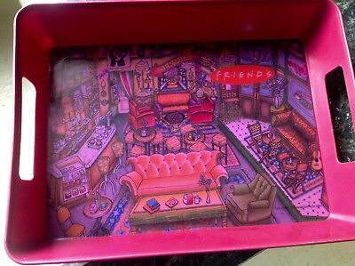 Vintage 90s FRIENDS TV Show Central Perk Coffee Scene Food Serving Tray *RARE*