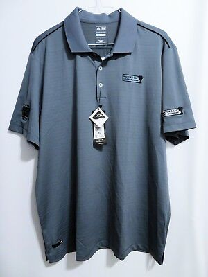 Adidas Golf Polo Shirt Lead Gray Mayors Cup CoolMax Puremotion Size XL NWT