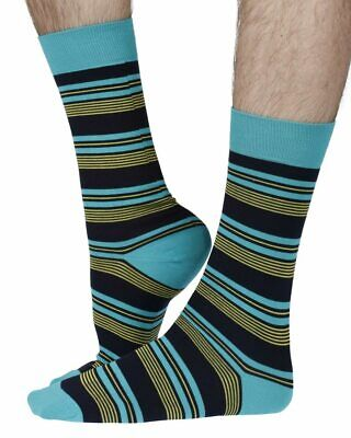 Solitaire men's Sea Island Cotton dress socks in navy | By Pantherella