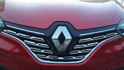 Renault Kadjar Front Center Grill Chrome Trim 7pcs