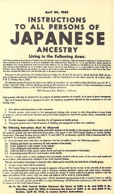 WWII Rare Find - Notice Japanese Evacuation for Internment Camps, Oakland, Ca.