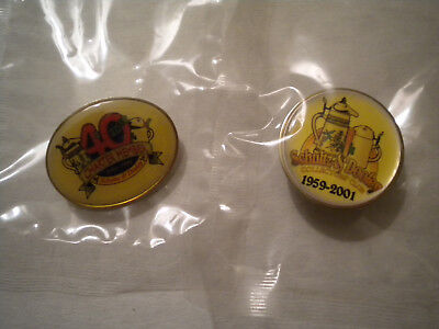 Lot Of 2 Utica Club Schultz And Dooley 40 Years Pins