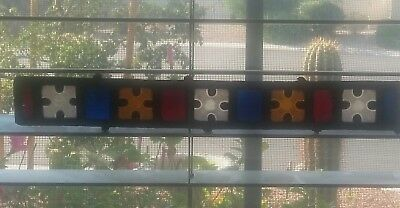 Vintage 60's 70's Stained Glass Strip Assorted Colors Pieces Antique Leaded