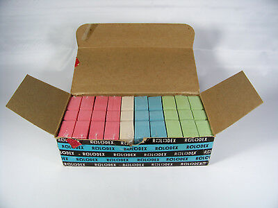 Rolodex C24 Color Index Cards 1000 Red White Blue Green New Old Stock Sealed