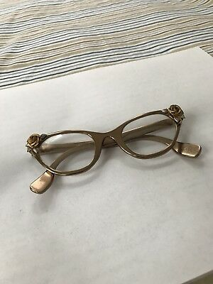 Vintage Tura Cat Eye Gold and Silver Tone 50's 60's Eye Glasses