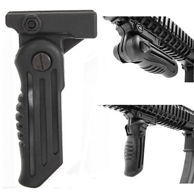Tactical Folding Foldable Vertical Foregrip Fore Grip 20mm Picatinny Weaver Rail