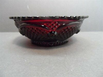 "Avon 1876 CAPE COD Collection Ruby Red  Glass 5 1/4"" Dessert Bowl in box"