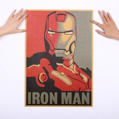 Movie Poster Adornment Picture Design Drawings Nostalgic Retro Wall Sticker