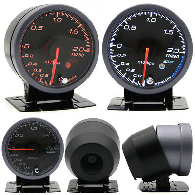 2.5'' 60mm Auto Car LED Turbo Boost Vacuum Press Pressure Gauge Bar Meter DC 12V