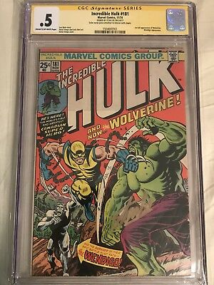 Hulk #181 CGC SS 0.5 signed Stan Lee!! HOT! Affordable Nice Copy!
