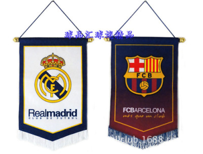 Soccer Hang Flag Arsenal, Chelsea, FC Barcelona, Juventus, Real Madrid