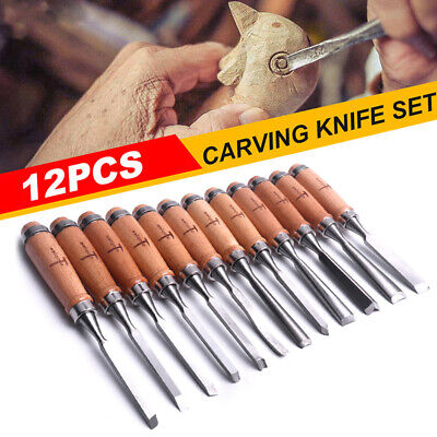 12X Wood Carving Hand Chisel carver/woodworking/lathe Tool Set Kit Alloy steel