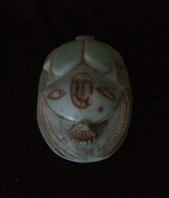 ANCIENT EGYPTIAN ANTIQUES EGYPT Scarab Beetle Khepri Carved Stone 3200-3095 BC