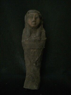 RARE EGYPTIAN USHABTI ANTIQUE Statue Shabti ANCIENT EGYPT Luxor Stone 2400 BCE