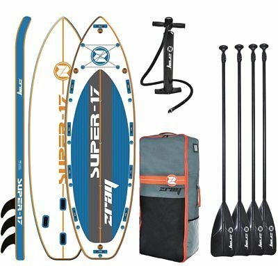 Zray S17 Super Méga XXL Isup Sup Stand Up Planche Pagaie Mit 4 Pagaie
