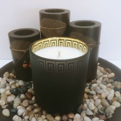 Vogue Othello Frosted Black Metallic Soy Candle Gift Boxed-Choose your scent