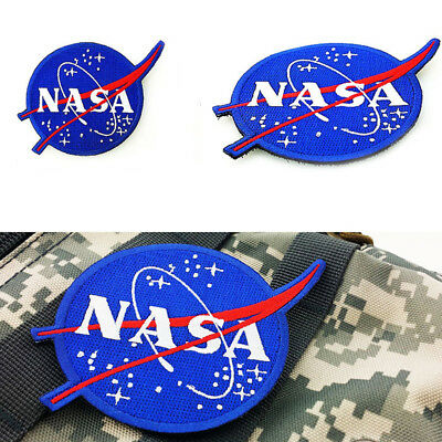 Embroidered Patch Clothes Sided Armband Military Badge Sew on NASA Patche pols