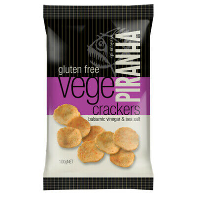 Piranha Vege Crackers Balsamic Vinegar & Sea Salt 100g
