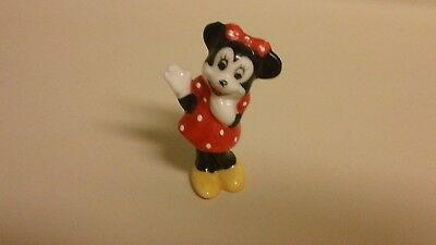 Disney Minnie Mouse Bone China Figurine Hand Painted in Taiwan Excellent Cond